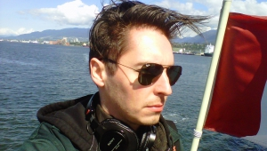 field recording aboard the port patrol boat in Vancouver Harbour