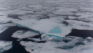pack-ice above the norwegian archipelago Spitsbergen/Svalbard