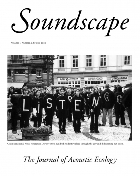 Soundscape Journals - Volume I Cover